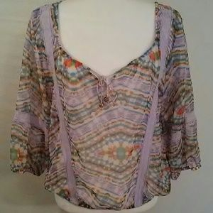 Olsenboye Swimsuit Cover Blouse
